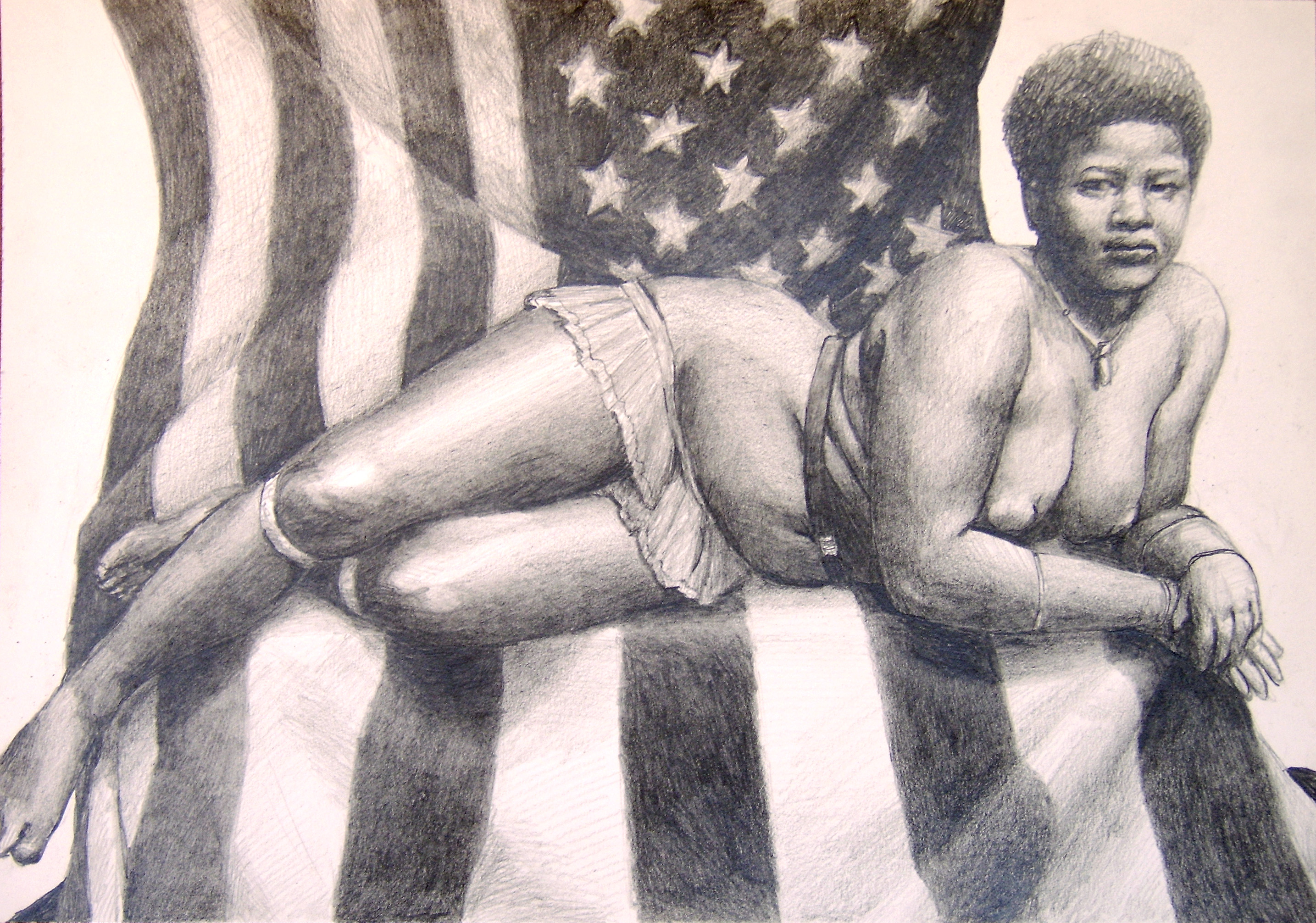 Erotic pencil drawings of african americans